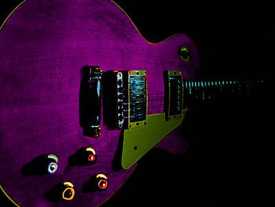 Purple Relic Les Paul II Hover Series Poster