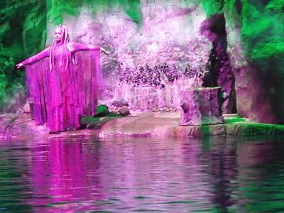Purple Siren Poster by Anna Villarreal Garbis