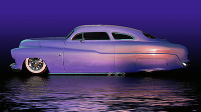 Purple Sled Poster