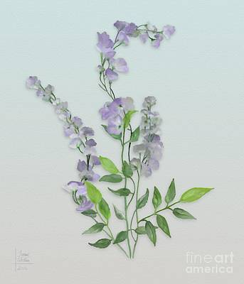 Purple Tiny Flowers Poster by Ivana Westin