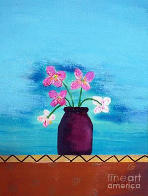 Purple Vase Poster