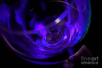 Purple Wine Poster by Krissy Katsimbras