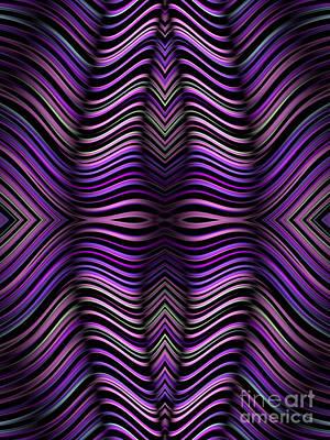 Purple Zebra Poster