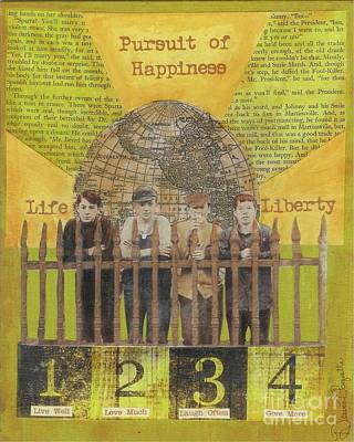 Poster featuring the mixed media Pursuit Of Happiness by Desiree Paquette