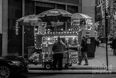 Pushcart Vendor Manhattan Poster by Thomas Marchessault