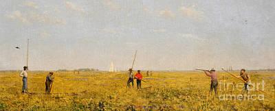 Pushing For Rail, 1874 Poster by Thomas Cowperthwait Eakins