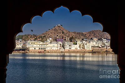 Poster featuring the photograph Pushkar Lake by Yew Kwang