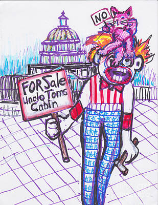 Pussy Hat Three-uncle Toms Cabin Poster by Susan Brown    Slizys art signature name