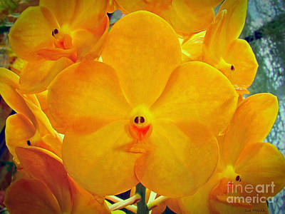 Put On A Happy Face Yellow Orchids Poster