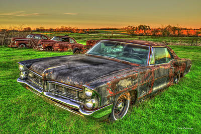 Put Out To Pasture 1965 Pontiac Grand Prix Art Poster