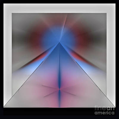 Poster featuring the digital art Pyramid by John Krakora
