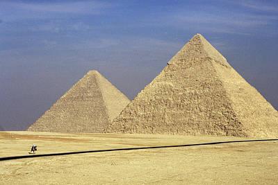 Pyramids At Giza Poster by Mark Greenberg