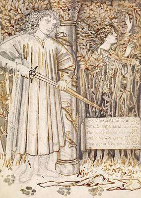 Pyramus And Thisbe  Poster by Edward Burne-Jones