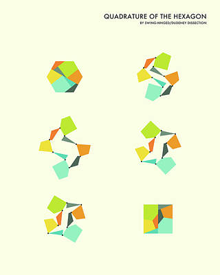 Quadrature Of The Hexagon Poster by Jazzberry Blue
