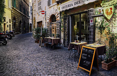 Quaint Cobblestones Streets In Rome, Italy Poster