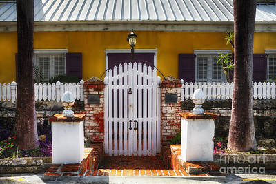 Quaint Colonial House In Charlotte Amalie Poster by George Oze