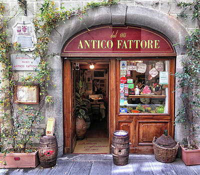 Quaint Restaurant In Florence Poster