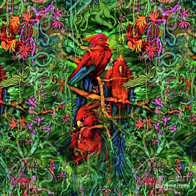Qualia's Parrots Poster by Russell Kightley