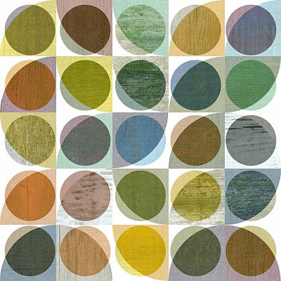 Quarter Circles Layer Project Three Poster by Michelle Calkins