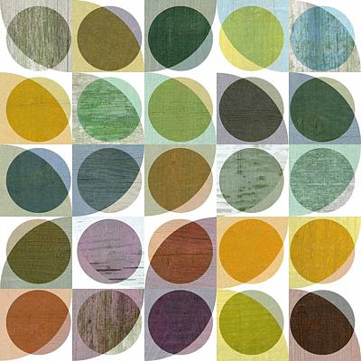 Quarter Circles Layer Project Two Poster by Michelle Calkins