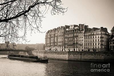 Quays Of The Seine And Ile Saint-louis. Paris. France. Europe. Poster by Bernard Jaubert