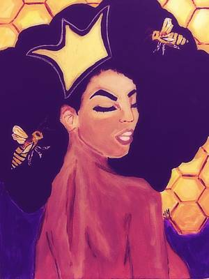 Queen Bee  Poster by Miriam Moran