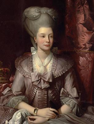 Queen Charlotte Poster by Benjamin West