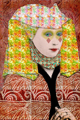 Queen Of Diamonds Custom Order Poster by Elena Nosyreva