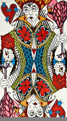 Queen Of Hearts Poster by Jani Freimann
