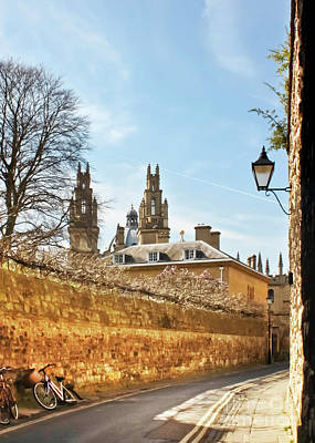 Queen's Lane And All Souls College Oxford Poster