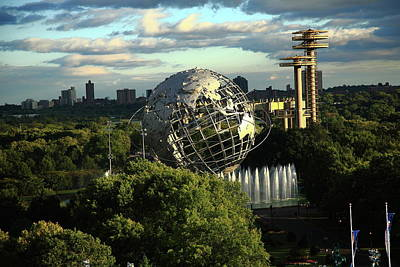 Queens New York City - Unisphere Poster by Frank Romeo