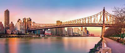 Queensboro Bridge At Sunset Poster