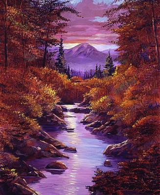 Quiet Autumn Stream Poster by David Lloyd Glover