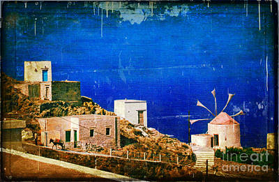 Quiet Day - Olympos - Karpathos Island - Greece Poster by Silvia Ganora