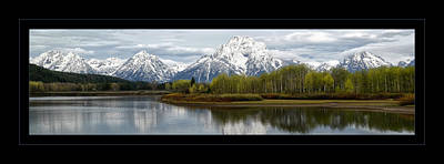 Poster featuring the photograph Quiet Morning At Oxbow Bend by Jaki Miller
