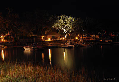 Quiet Night In Harbor Poster