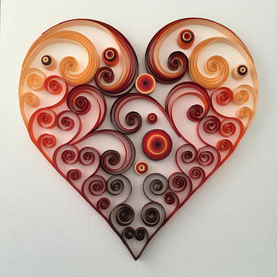 Quilling Heart 1 Poster by Felecia Dennis