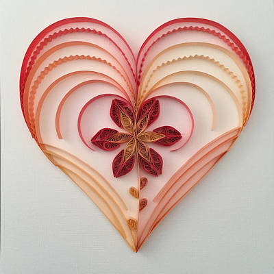 Quilling Heart 2 Poster by Felecia Dennis