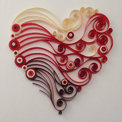 Quilling Heart 4 Poster by Felecia Dennis