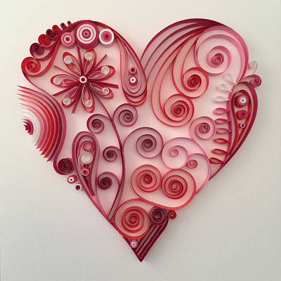 Quilling Heart 9 Poster by Felecia Dennis