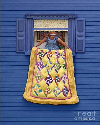 Quilted Showing Poster by Anne Klar
