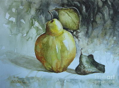 Poster featuring the painting Quince... by Elena Oleniuc