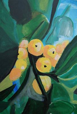Poster featuring the painting Quince by Krista Ouellette