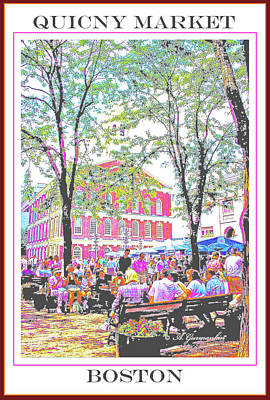 Quincy Market, Boston Massachusetts, Poster Image Poster