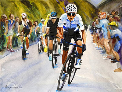 Quintana In White Poster by Shirley Peters