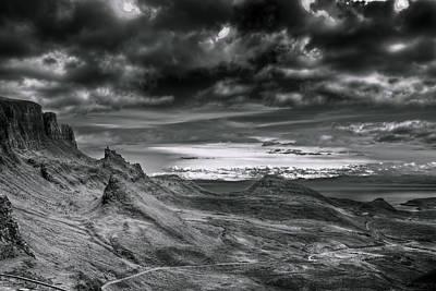 Quiraing On Isle Of Skye Scotland Poster by Gabor Pozsgai