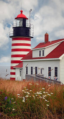 Quoddy Lighthouse Afternoon Poster by Brenda Giasson