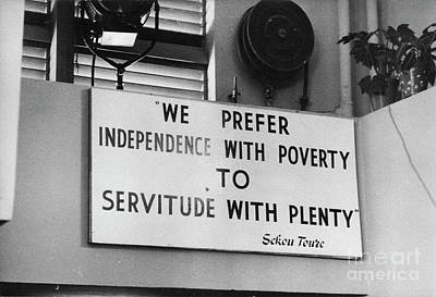 Quote By Ahmed Sekou Toure  Poster by The Harrington Collection