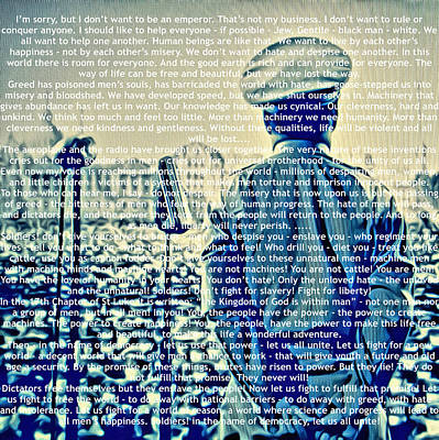 Quote The Dictators Speech Poster