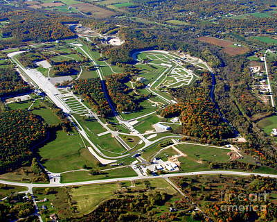 R-024 Road America Elkhart Lake Wisconsin Fall Poster by Bill Lang